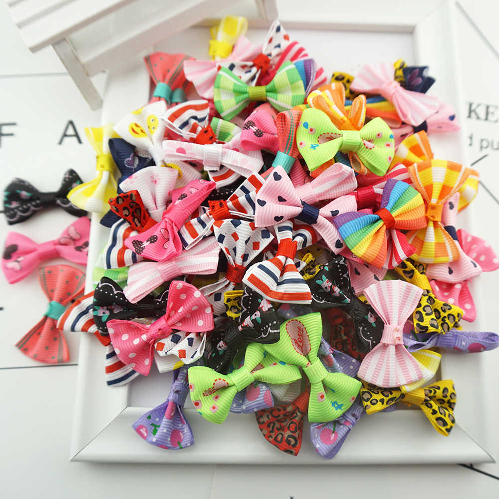 no clip 100PCS//lot Handmade bows Kids Baby Girl bow DIY accessories bowknot