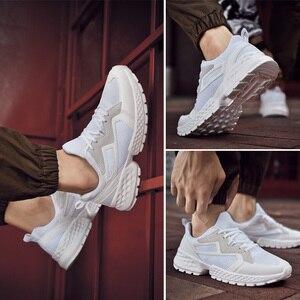 Image 5 - יוקרה גברים נעליים יומיומיות Tenis לנשימה Krasovki תחרה עד אופנה מגמת ספורט אור סניקרס זכר Chaussure Zapatillas Homme 46