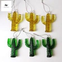 6 шт декоративная фигурка миниатюрное стекло кактус орнамент