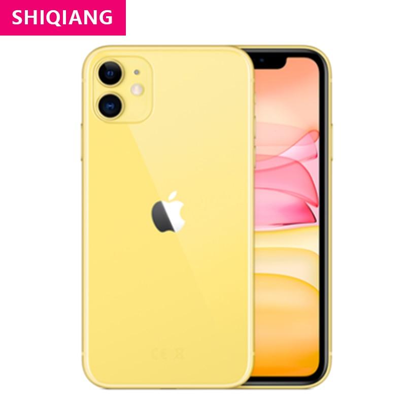 Used Original Apple iPhone 11 Unlocked Smartphones Dual-camera 64/128/256GB ROM IOS 4G LTE 6.1''A13 Fingerprint Telephon