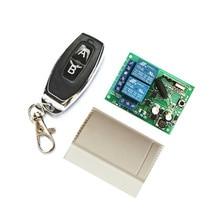 433 Mhz evrensel kablosuz uzaktan kumanda anahtarı AC85 250V 220V 2CH röle alıcı modülü ve RF 433 Mhz için ışık anahtarı garaj