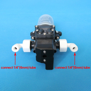 Image 4 - 2L/Min 12V 15W מאוד שקט מים מטהר מים מסנן מערכת מקלחת שטיפת מכוניות בלחץ dc סרעפת מים משאבת