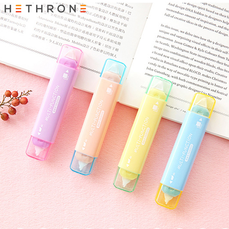Hethrone 1PC Popular Mini Small Double Head Multifunction Correction TapeAltered Tapes With Adhesive School Writing Corrector To