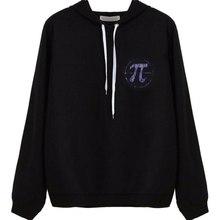 Women Hoodies Sweatshirts Hand Print Long Sleeve Casual All-match Solid Leisure Hoodie Loose Tops