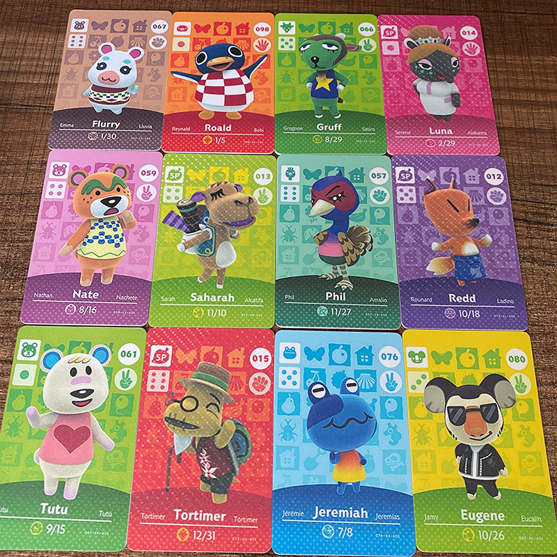New English Version (001 To 100) Animal Crossing Card Amiibo Locks Nfc Card Work For NS Games Series 1