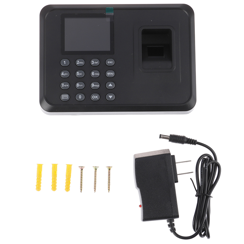 Fingerprint Attendance Machine LCD Display USB Fingerprint Attendance System Time Clock Employee Checking-in Recorder