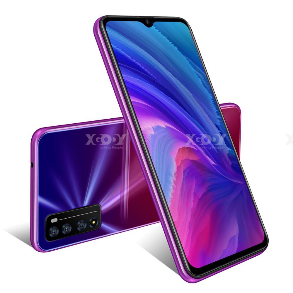 XGODY New Smartphone Android 10.0 2GB 16GB Celulars 6.6'' 19:9 HD Screen MTK6737 Quad Core 3000mAh Wifi 4G Mobile Phones 1