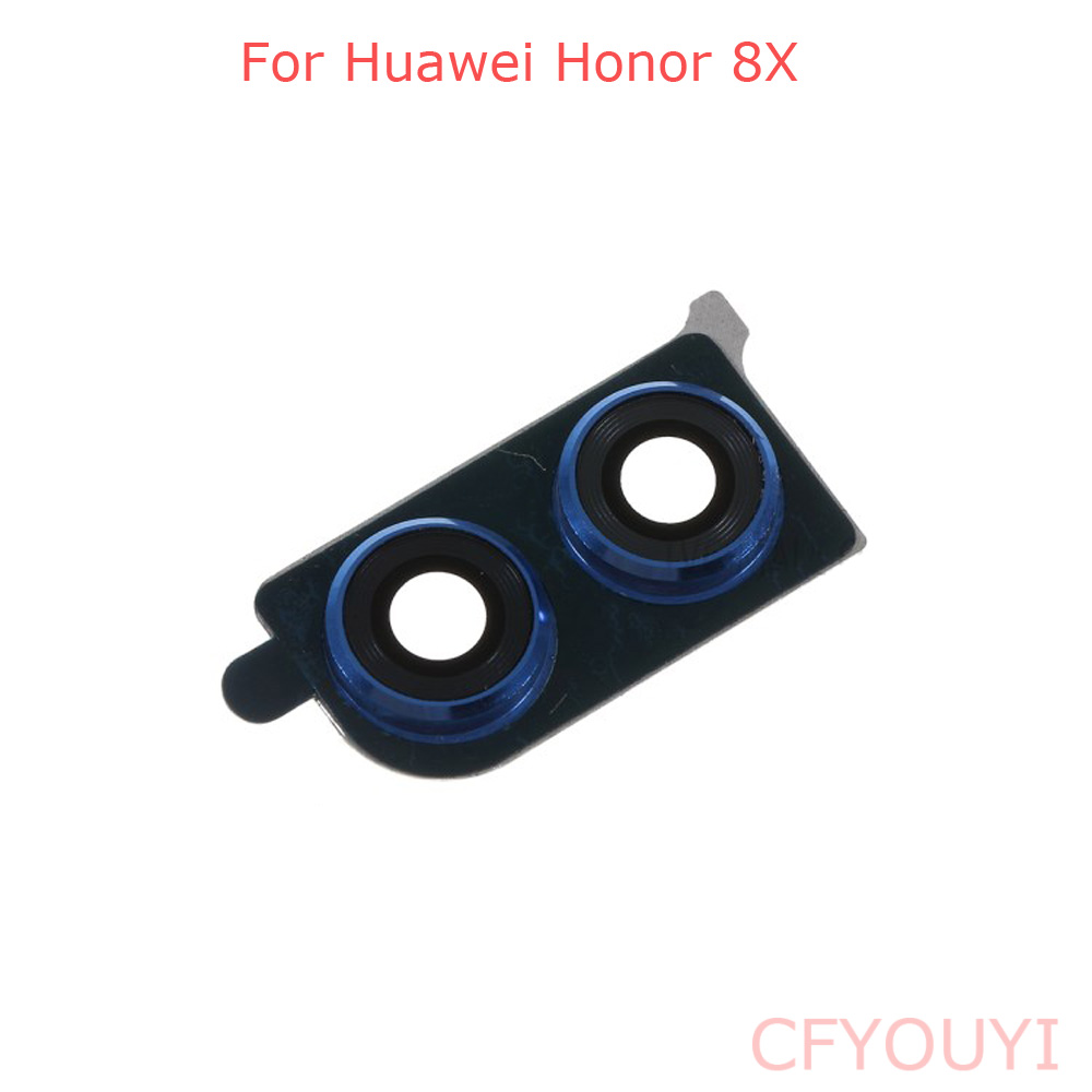 Back Camera Lens Ring Cover With Glass Lens For Huawei Honor 8x Black Or Blue Color