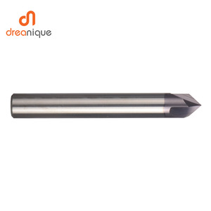 Image 3 - CNC carbide Chamfering milling cutter 60 90 120 degree coated 3 flutes deburring end mill engraving and carving router bit