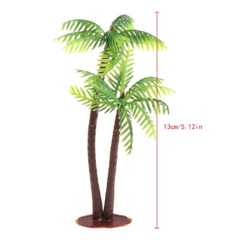 Mini Scenery Landscape Model Simulation Coconut Palms Tree Home Decor Ornaments Drop Ship Support