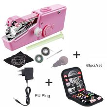 Portable Mini Sewing Machines Needlework Cordless Hand-Held Clothes Useful Portable Sewing Machines Handwork Tools Accessories