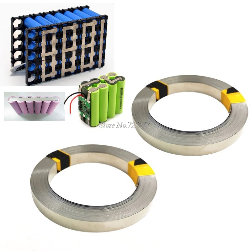 5 Meter Pure Nickel Strip 99.96% For Li 18650 Battery Spot Welding Machine Welder Equipment Nickel Belt For Battery Packs S23
