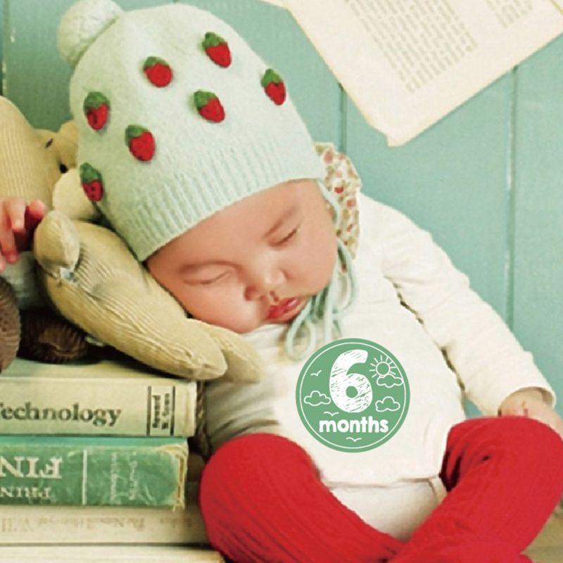 12 Pcs/set Baby Month Sticker Infant Photography Prop Milestone Memorial Monthly Newborn Kid Supplies E65D