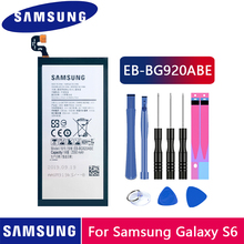 Samsung Original Phone Battery EB-BG920ABE For Samsung GALAXY S6 SM-G920 G920F G920i G920A G920V G9200 G9208 G9209 2550mAh cheap 2201mAh-2800mAh