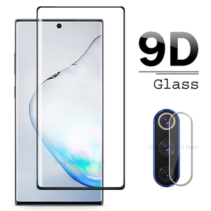 Image 1 - 9D Camera Glass For Samsung Galaxy Note 10 Pro Tempered Glass Screen Protector For Samsung Galaxy Note10 Plus Note 9 8 Lens Glas