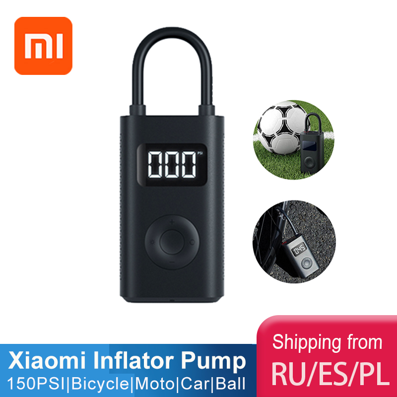 Original xiaomi Mijia Inflator Portable Smart Digital Tire Pressure Sensor Electric Pump for Motorcycle Motorcycle Car Soccer(China)