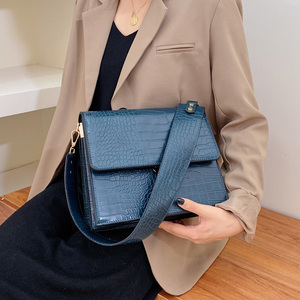 Image 2 - [BXX] Stone Pattern PU Leather Crossbody Bags For Women 2020 Autumn Brand Designer Shoulder Messenger Bag Female Handbags HI917