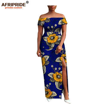 2018 AFRIPRIDE private custom african clothing autumn dress short sleeve maxi batik side-opening party dress for women A722538 - DISCOUNT ITEM  16% OFF All Category