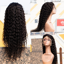 Wig Lace-Wigs Human-Hair Water-Wave 13X6 Transparent Pre-Plucked Glueless 150%Density