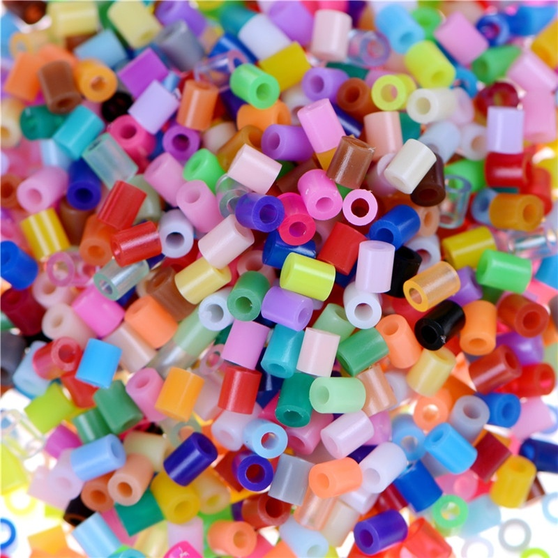 2.6mm 1000pcs/pack Fuse Beads Iron Beads For Kids Hama Beads Fuse Beads Diy Puzzles Mini Mixcolor Hama Beads Quality Gift
