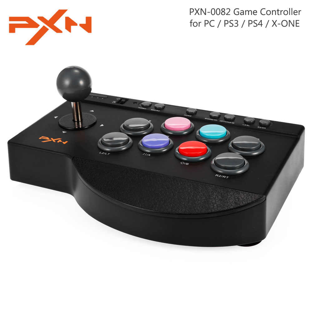 Pxn PXN-0082 Gamepad Joystick Arcade Wired Game Controller Antarmuka USB untuk PC PS3 PS4 Xbox One
