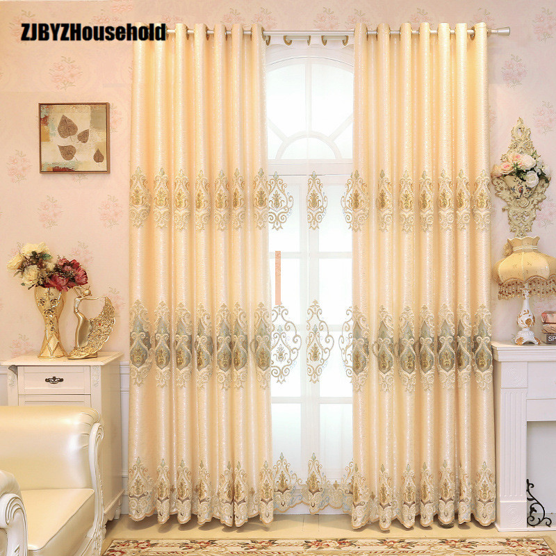 Curtains New For Dining Living Bedroom Room high precision and high precision jacquard embroidery full shading fabric