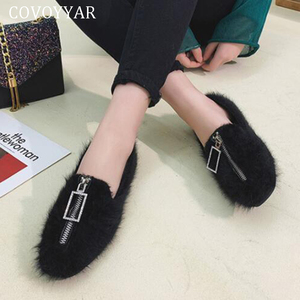 COVOYYAR 2019 Furry Women Shoe