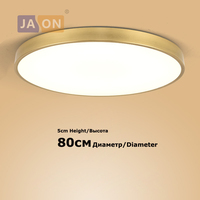 Led moderno ferro acryl redondo ouro prata 80cm luzes de teto. led luz de teto. lâmpada do teto lamparas de techo para quarto foyer
