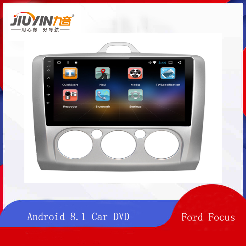 JIUYIN Android 8.1 Car DVD Multimedia Player GPS For ford focus 2 3 2006 2007 2008 2009 2010 2011 audio car radio