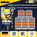 Gillette Fusion Proshield Original Razor 5 Layers Stainless Steel Handle Holder With Replacement Heads Safety Shaving Cassettes