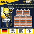 Gillette Fusion Proshield оригинальный бритвы 5 слоев Нержавеющаясталь ручка держатель с сенными головками, Безопасность кассеты для бритья