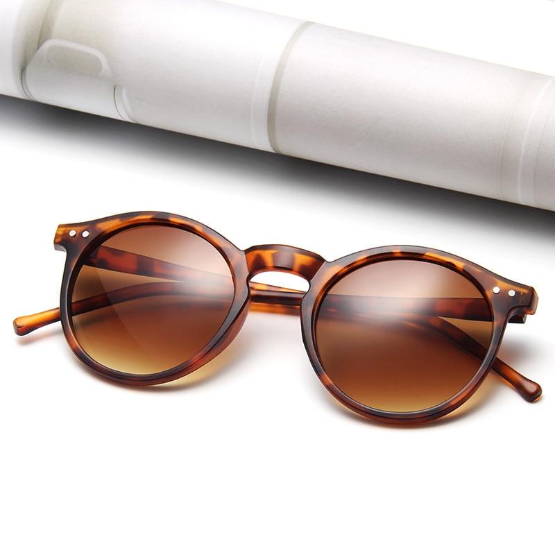 خمر ليوبارد النظارات الشمسية المستديرة النساء موضة القط العين مرآة نظارات شمسية الإناث العلامة التجارية مصمم الكلاسيكية التدرج Oculos دي سول