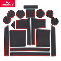 Smabee Anti-Slip Gate Slot Mat for Mitsubishi Pajero 2019 2020 MK2 Accessories Rubber Cup Holders Non-slip mats Coaster Stickers
