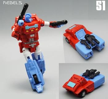 MF-51 de transformación MFT MF51 Orion Pax Rebel Pioneer serie Mini figura de acción Robot de juguete