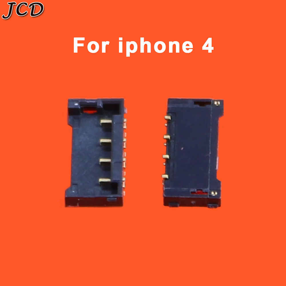 JCD Battery Connector Socket For iphone 4 4s 5 5s 6 6Plus 6S 8 plus X Inner Connector Panel Battery Holder Clip Mianboard Repair