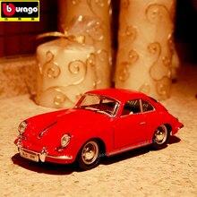 цена на Bburago 1:24 1961 Porsche 356B Convertible alloy car model simulation car decoration collection gift toy