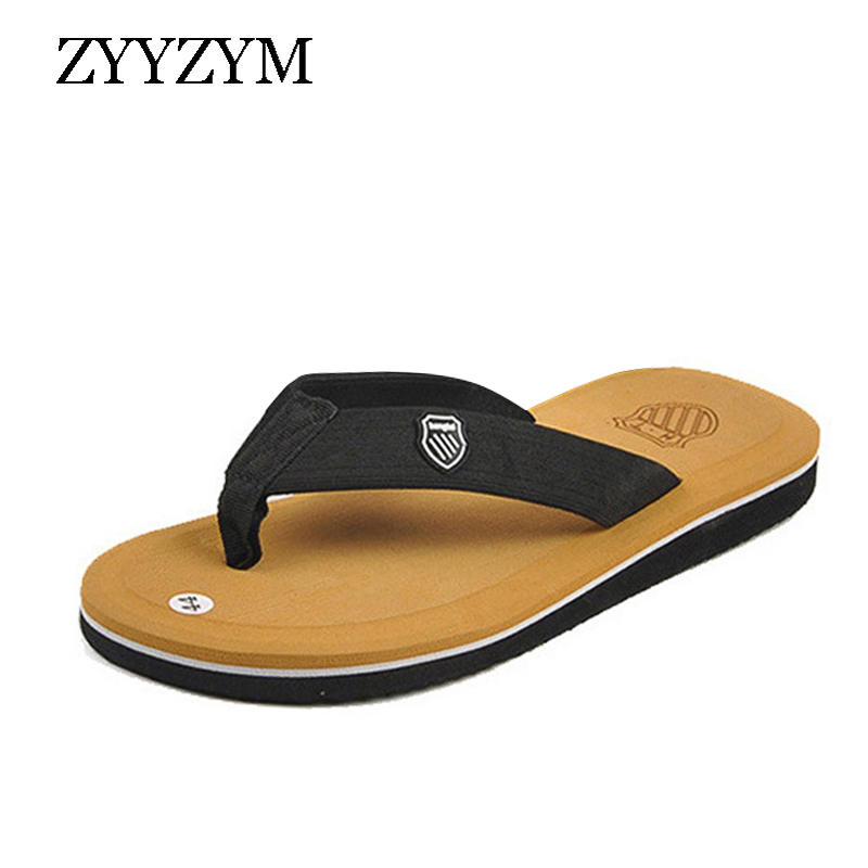 ZYYZYM Flip Flops Men Slippers Summer Anti-skid Outdoor Light Casual Beach Male Sandals Household Slipper(China)