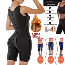 Hot Women Neoprene Full Body Shaper Ultra Sweat Sport Bodysuit Sauna Suit Thermique Moteurs Ceinture Shaper Corps Shaper Sports