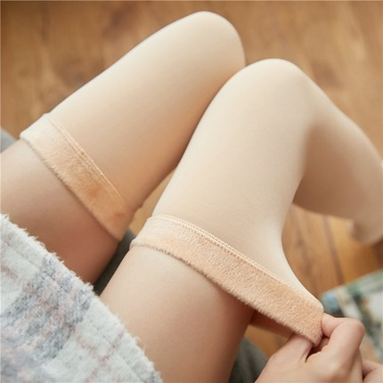 Winter Warm Thick Women Thermal Cashmere Snow Stockings Unisex Seamless Boots Floor SocksBelow/Above Knee Long Stockings