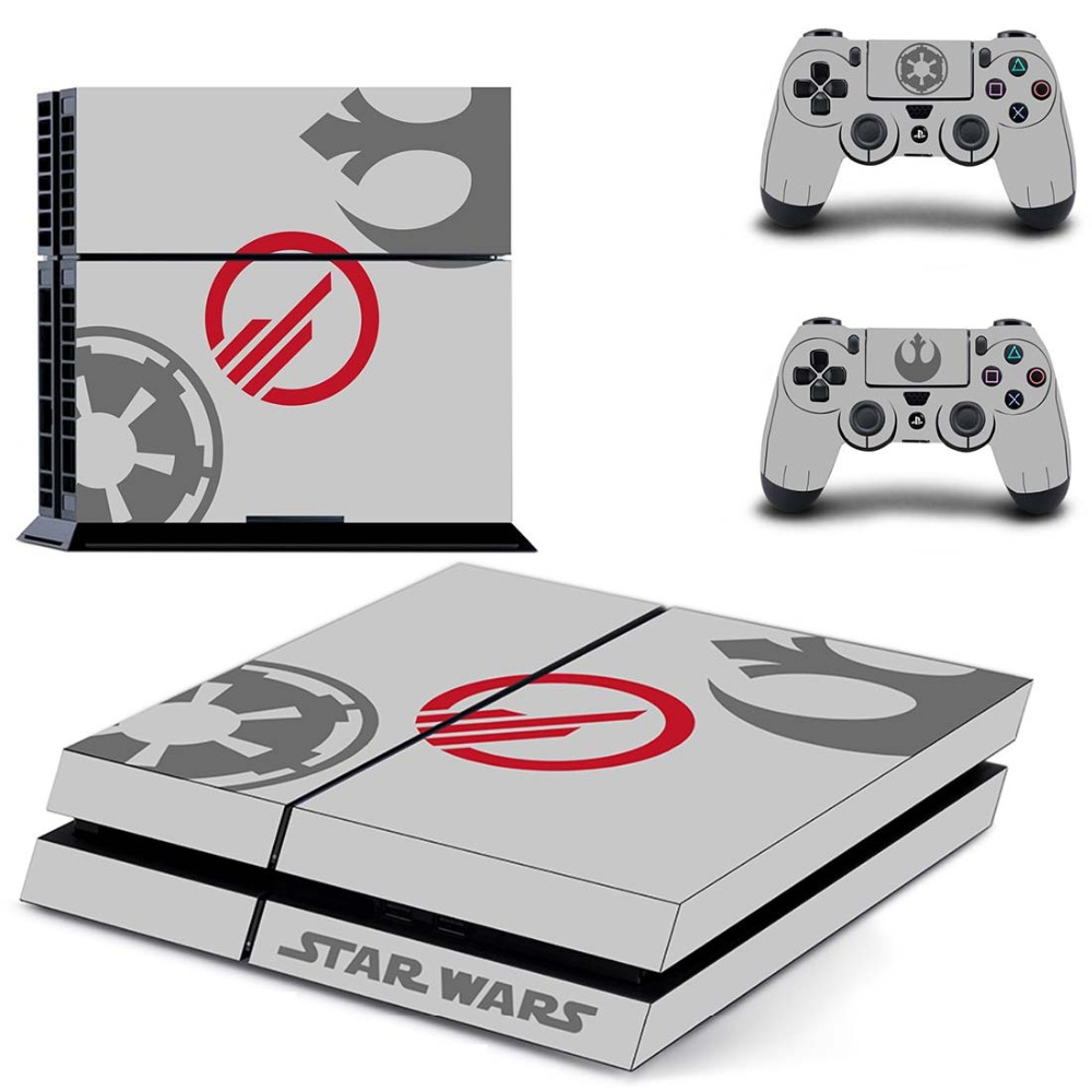 Star Wars Film Full Cover Faceplates PS4 Skin Sticker Decal For PlayStation 4 Console & Controllers PS4 Skin Sticker Vinyl image