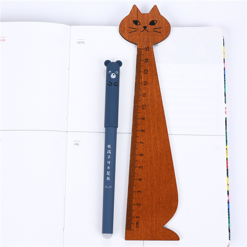4 Pcs set Kawaii Pig Bear Cat Mouse Erasable Gel Pen School Office Supplies Stationery Gift