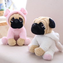 20CM Small Cute Cartoon Stuffed Sharpei Pug plush toy doll Soft Animal dog small plush pillow Room decoration doll baby toys the sharpei turned dog doll plush toy hat dog doll simulation belldog pug stuffed animals toys for children gift 20