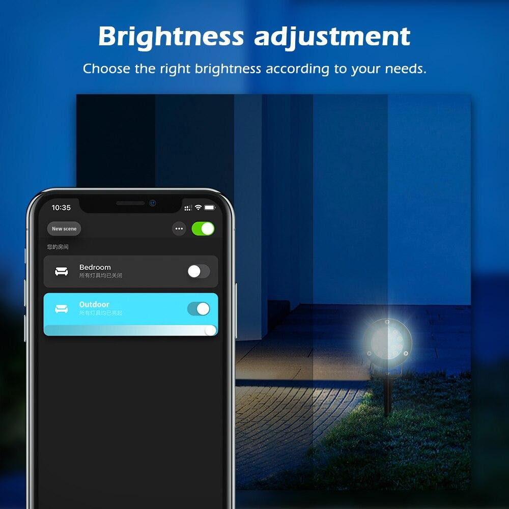 paisagem iluminação alexa voz app controle remoto