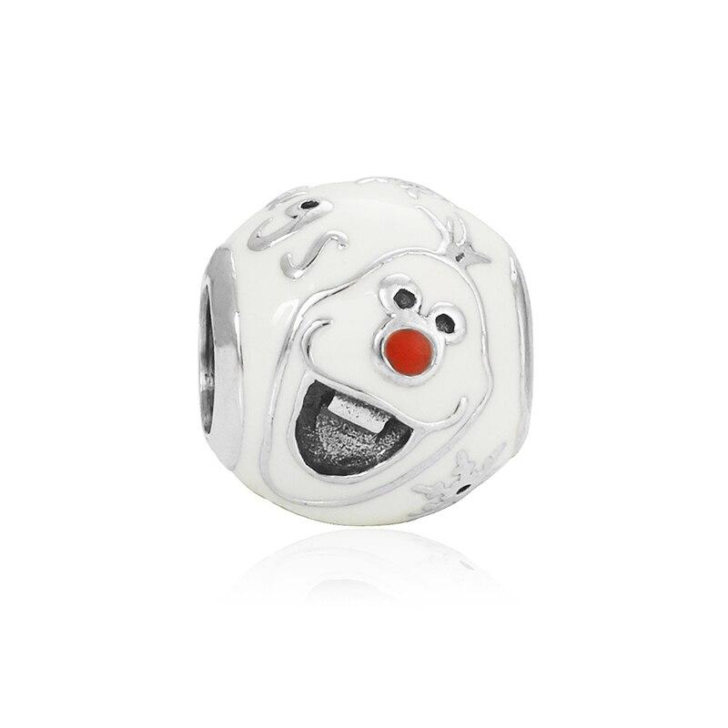 Новинка, сплав, шарик Микки и Минни, сказочный Дамбо, любовь, шарм, подходит для Пандоры, браслет, ожерелье, сделай сам, Женские Ювелирные изделия - Цвет: Olaf