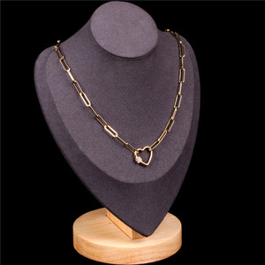 Europe and America Cross Border Summer New Style Punk Clavicle Diamond Set ai xin kou Necklace Online Celebrity Crude Chain Euro