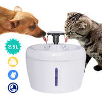 2.5L Automatic Cat Fountain Water Drinking Feeder Bowl Pet Dog Cat Water Dispenser Mute Automatic Drinking Fountain Electric USB