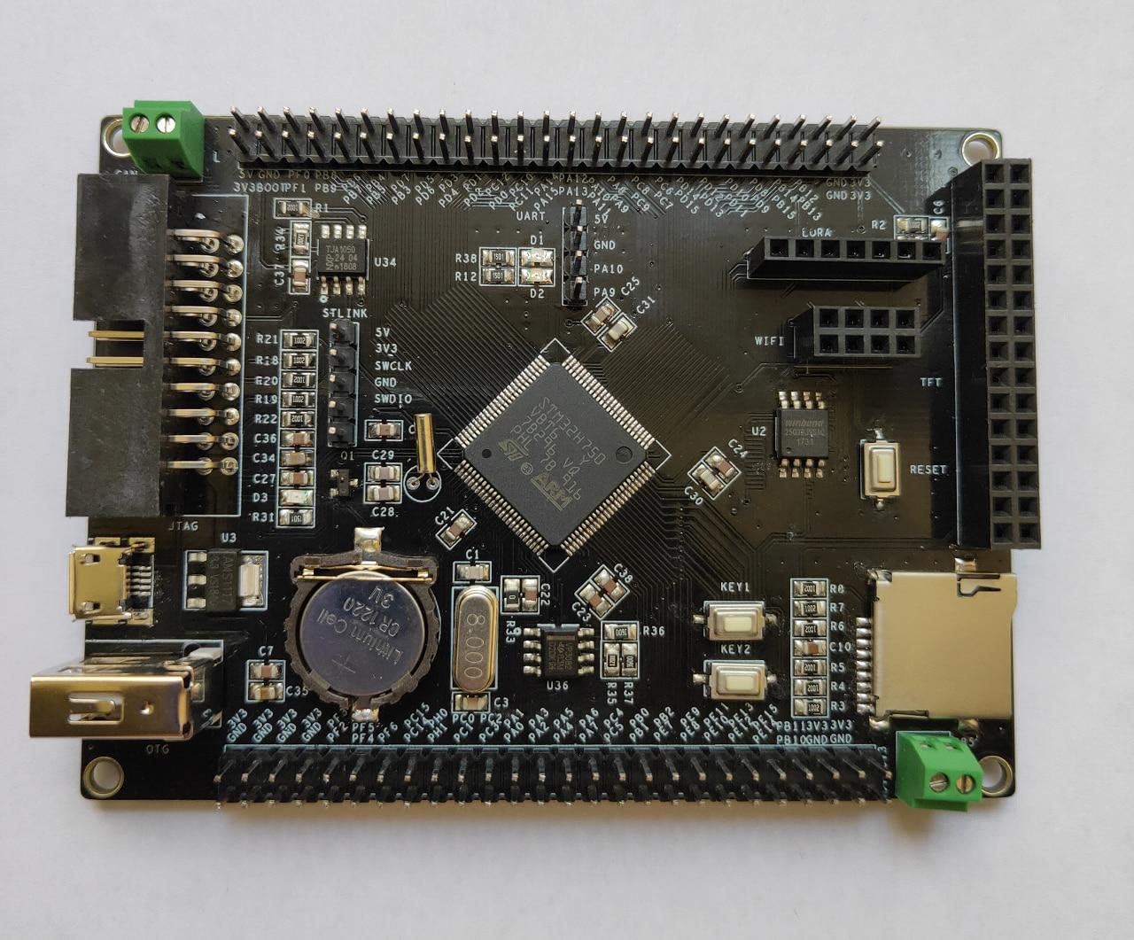 STM32 Development Board STM32H750VBT6 STM32H743 CAN 485 Esp8266 TFT Screen