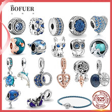2021 New Hot 925 Sterling Silver Summer Ocean Series Beads Dangle Charm Fit Original Pandora Charm Bracelet Jewelry Gift