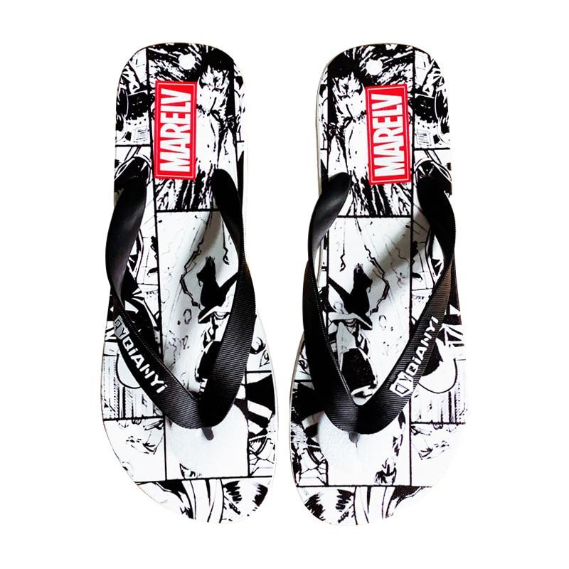 Купить с кэшбэком Tide brand summer 2020 new flip-flops men and women trend Korean beach shoes indoor and outdoor personality sandals and slippers
