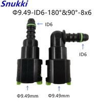9.49 ID6 fuel line quick connector with 180 90 degree high quality for japanese car 2pcs a lot